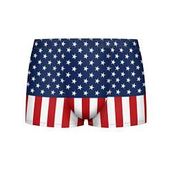 Трусы-боксеры мужские Флаг США цвета 3D-принт — фото 1