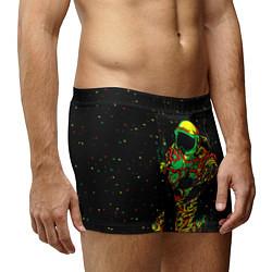 Трусы-боксеры мужские Космонавт с кальяном цвета 3D-принт — фото 2