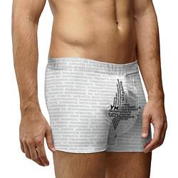 Трусы-боксеры мужские Облако тегов: белый цвета 3D-принт — фото 2