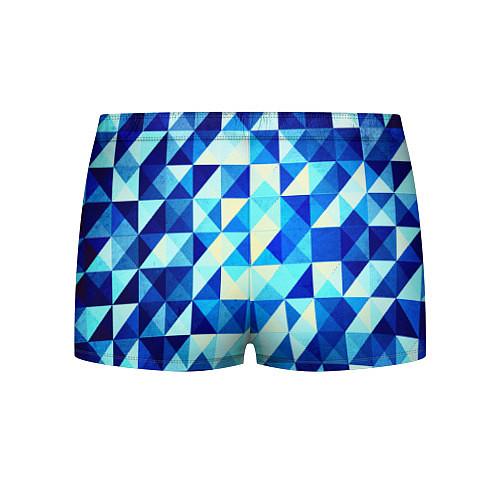 Мужские трусы Синяя геометрия / 3D – фото 2