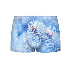 Трусы-боксеры мужские Снежные иголки цвета 3D — фото 1