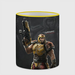 Кружка 3D Quake цвета 3D-желтый кант — фото 2