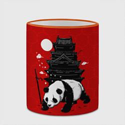 Кружка 3D Panda Warrior цвета 3D-оранжевый кант — фото 2