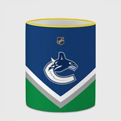 Кружка 3D NHL: Vancouver Canucks цвета 3D-желтый кант — фото 2