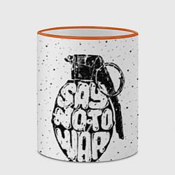 Кружка 3D Say no to War цвета 3D-оранжевый кант — фото 2