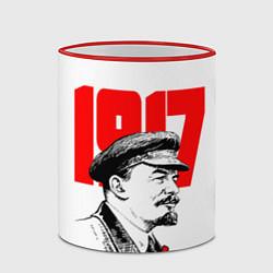 Кружка 3D Ленин 1917 цвета 3D-красный кант — фото 2