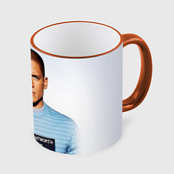 Кружка 3D Prison Break: Michael Scofield цвета 3D-оранжевый кант — фото 1