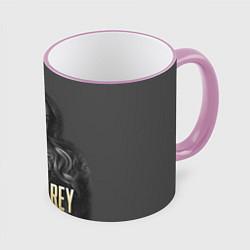 Кружка 3D Lana Del Rey: Sex цвета 3D-розовый кант — фото 1