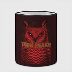 Кружка 3D Twin Peaks: Red Owl цвета 3D-черный кант — фото 2
