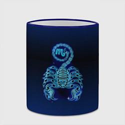 Кружка 3D Знаки Зодиака Скорпион цвета 3D-синий кант — фото 2
