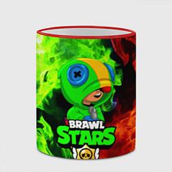 Кружка 3D BRAWL STARS LEON цвета 3D-красный кант — фото 2
