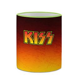 Кружка 3D KISS цвета 3D-светло-зеленый кант — фото 2