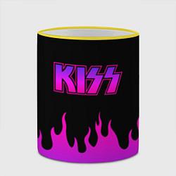 Кружка 3D KISS цвета 3D-желтый кант — фото 2