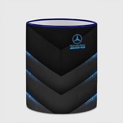 Кружка 3D Mercedes-AMG цвета 3D-синий кант — фото 2