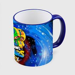 Кружка 3D BRAWL STARS LEON SKINS цвета 3D-синий кант — фото 1