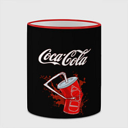 Кружка 3D Coca Cola цвета 3D-красный кант — фото 2