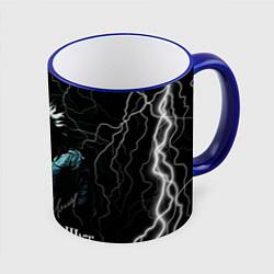 Кружка 3D КОРОЛЬ И ШУТ - МОЛНИЯ цвета 3D-синий кант — фото 1