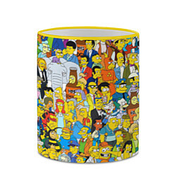 Кружка 3D Simpsons Stories цвета 3D-желтый кант — фото 2