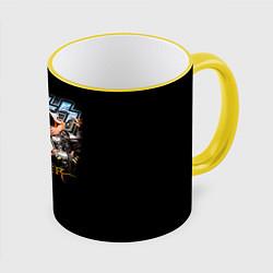 Кружка 3D Kiss Monster цвета 3D-желтый кант — фото 1