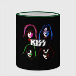 Кружка 3D KISS: Acid Colours цвета 3D-зеленый кант — фото 2