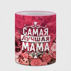 Кружка 3D Лучшая мама цвета 3D-розовый кант — фото 2