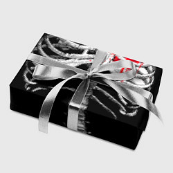 Бумага для упаковки Скелет с сердцем цвета 3D — фото 2
