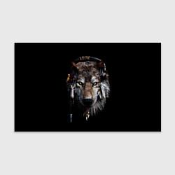 Бумага для упаковки Волк-шаман цвета 3D — фото 1