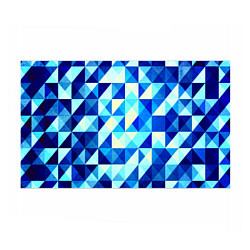 Бумага для упаковки Синяя геометрия
