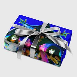 Бумага для упаковки Kiss Show цвета 3D-принт — фото 2
