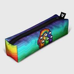 Пенал для ручек Among Us Радуга цвета 3D — фото 1