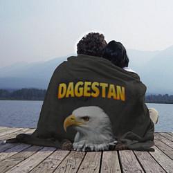 Плед флисовый Dagestan Eagle цвета 3D — фото 2