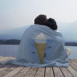 Плед флисовый Мороженое цвета 3D — фото 2
