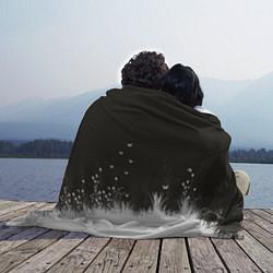 Плед флисовый Ночная полянка цвета 3D-принт — фото 2