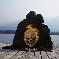 Плед флисовый In Flames цвета 3D-принт — фото 2