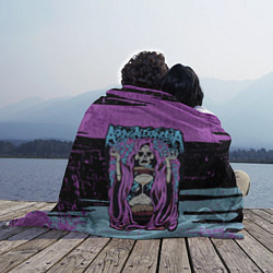 Плед флисовый Asking Alexandria: Purple Death цвета 3D-принт — фото 2