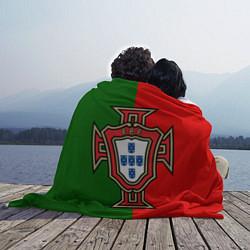 Плед флисовый Сборная Португалии цвета 3D-принт — фото 2