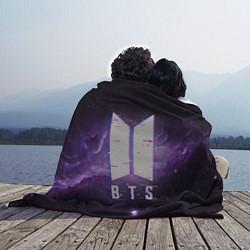 Плед флисовый BTS: Violet Space цвета 3D — фото 2