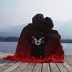 Плед флисовый Kumamon: Hell Flame цвета 3D-принт — фото 2