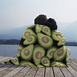 Плед флисовый Avocado background цвета 3D — фото 2