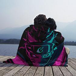 Плед флисовый Неоновый НАРУТО цвета 3D-принт — фото 2