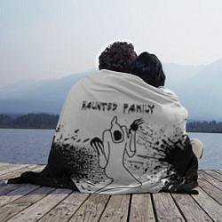 Плед флисовый KIZARU: HAUNTED FAMILY цвета 3D — фото 2