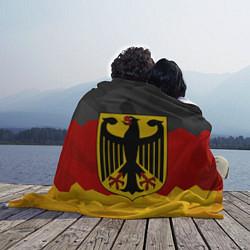 Плед флисовый Германия: герб цвета 3D-принт — фото 2