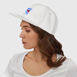 Кепка с прямым козырьком с принтом New York Rangers, цвет: белый, артикул: 10010708100061 — фото 2
