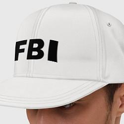 Кепка-снепбек FBI цвета белый — фото 1