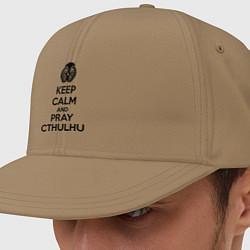 Кепка-снепбек Keep Calm & Pray Cthulhu цвета миндальный — фото 1