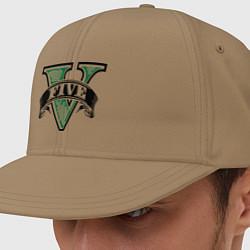 Кепка-снепбек GTA V: Logo цвета миндальный — фото 1