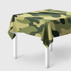 Скатерть для стола Камуфляж: зеленый/хаки цвета 3D — фото 2