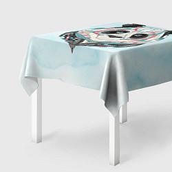Скатерть для стола Расписная голова панды цвета 3D — фото 2
