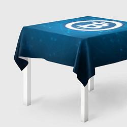 Скатерть для стола Bitcoin Blue цвета 3D-принт — фото 2