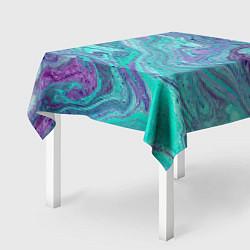 Скатерть для стола Смесь красок цвета 3D — фото 2